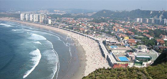 Playas en castrillon playa de salinas - Hoteles en salinas asturias ...